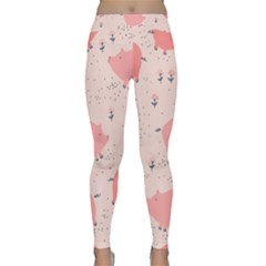 Pigs And Flowers Classic Yoga Leggings
