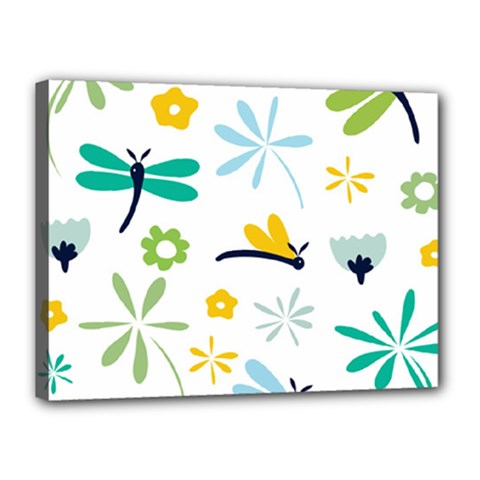 Busy Dragonflies Canvas 16  X 12
