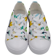 Busy Dragonflies Kids  Low Top Canvas Sneakers
