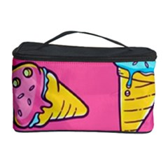 Summer Ice Creams Flavors Pattern Cosmetic Storage Case