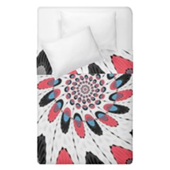 High Contrast Twirl Duvet Cover Double Side (single Size)