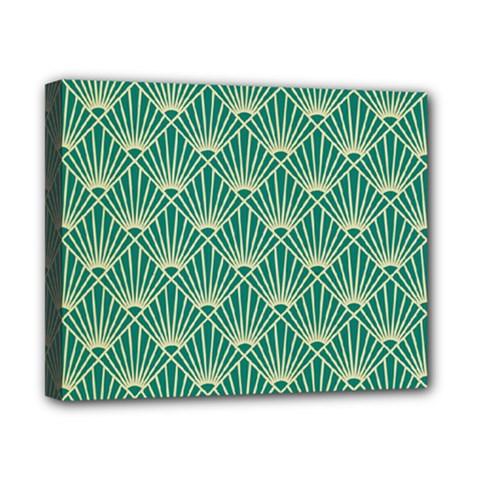 Green Fan  Canvas 10  X 8