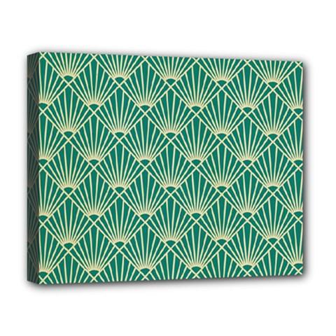 Green Fan  Deluxe Canvas 20  X 16