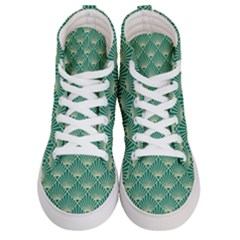 Green Fan  Men s Hi Top Skate Sneakers