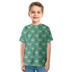 Green Fan  Kids  Sport Mesh Tee