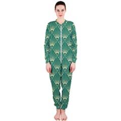 Green Fan  Onepiece Jumpsuit (ladies)