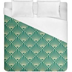 Green Fan  Duvet Cover (king Size)