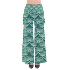 Green Fan  Pants