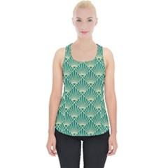 Green Fan  Piece Up Tank Top