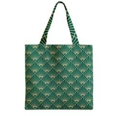 Green Fan  Grocery Tote Bag