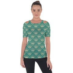 Green Fan  Short Sleeve Top