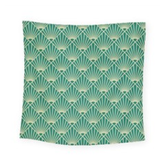 Green Fan  Square Tapestry (small)