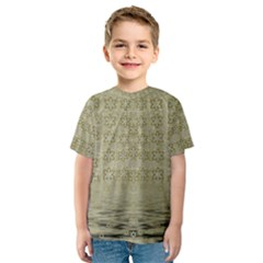 Shooting Stars Over The Sea Of Calm Kids  Sport Mesh Tee
