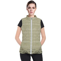 Shooting Stars Over The Sea Of Calm Women s Puffer Vest