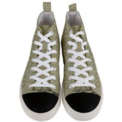Shooting Stars Over The Sea Of Calm Men s Mid Top Canvas Sneakers