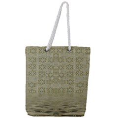 Shooting Stars Over The Sea Of Calm Full Print Rope Handle Tote (large)