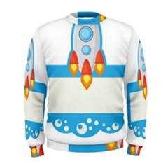 Rocket Spaceship Clip Art Clipart Men s Sweatshirt