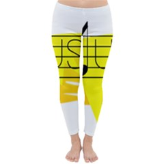 Music Dance Abstract Clip Art Classic Winter Leggings