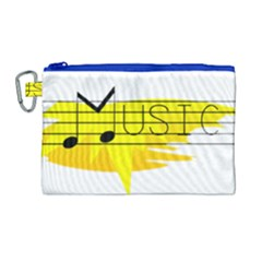 Music Dance Abstract Clip Art Canvas Cosmetic Bag (large)