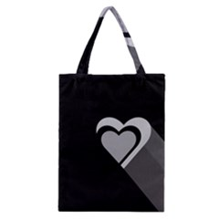 Heart Love Black And White Symbol Classic Tote Bag