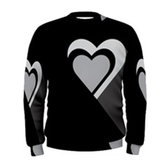Heart Love Black And White Symbol Men s Sweatshirt