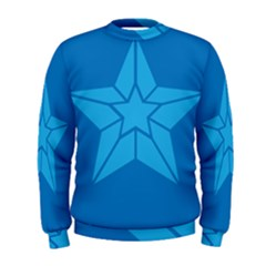 Star Design Pattern Texture Sign Men s Sweatshirt