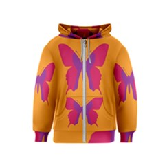Butterfly Wings Insect Nature Kids  Zipper Hoodie