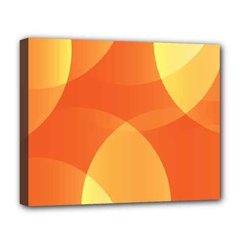 Abstract Orange Yellow Red Color Deluxe Canvas 20  X 16