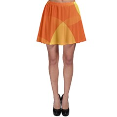 Abstract Orange Yellow Red Color Skater Skirt