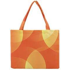 Abstract Orange Yellow Red Color Mini Tote Bag