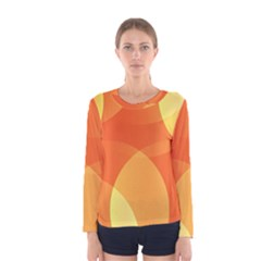 Abstract Orange Yellow Red Color Women s Long Sleeve Tee