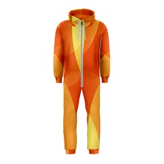 Abstract Orange Yellow Red Color Hooded Jumpsuit (kids)