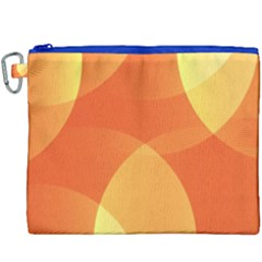 Abstract Orange Yellow Red Color Canvas Cosmetic Bag (xxxl)