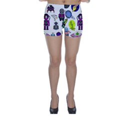 Space Clip Art Aliens Space Craft Skinny Shorts