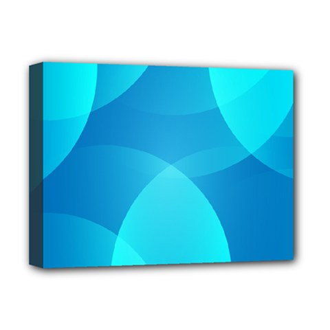 Abstract Blue Wallpaper Wave Deluxe Canvas 16  X 12
