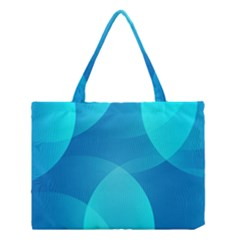 Abstract Blue Wallpaper Wave Medium Tote Bag