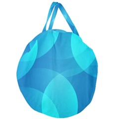 Abstract Blue Wallpaper Wave Giant Round Zipper Tote
