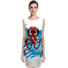 Octopus Sea Ocean Cartoon Animal Classic Sleeveless Midi Dress