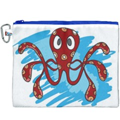 Octopus Sea Ocean Cartoon Animal Canvas Cosmetic Bag (xxxl)