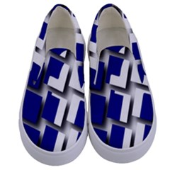 Facebook Social Media Network Blue Kids  Canvas Slip Ons