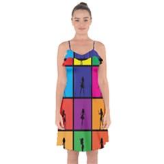 Girls Fashion Fashion Girl Young Ruffle Detail Chiffon Dress