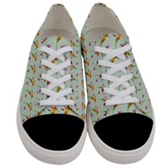 Birds Hummingbirds Wings Women s Low Top Canvas Sneakers