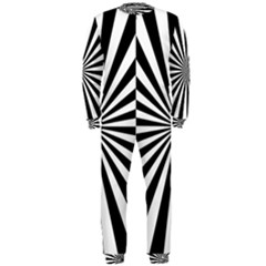 Rays Stripes Ray Laser Background Onepiece Jumpsuit (men)