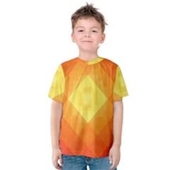 Pattern Retired Background Orange Kids  Cotton Tee