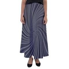 Abstract Art Color Design Lines Flared Maxi Skirt
