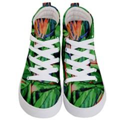Flowers Art Beautiful Kid s Hi Top Skate Sneakers