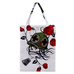Skull Skeleton Dead Death Face Classic Tote Bag
