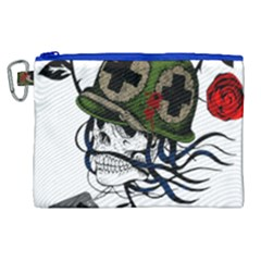Skull Skeleton Dead Death Face Canvas Cosmetic Bag (xl)