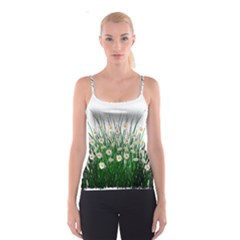 Spring Flowers Grass Meadow Plant Spaghetti Strap Top