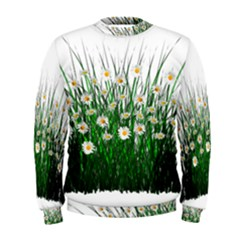 Spring Flowers Grass Meadow Plant Men s Sweatshirt